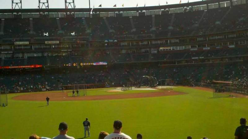 Seating view for AT&T Park Section 138 Row 18 Seat 1