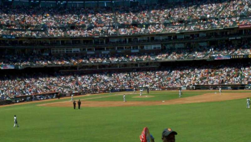 Seating view for AT&T Park Section 144 Row 26 Seat 3