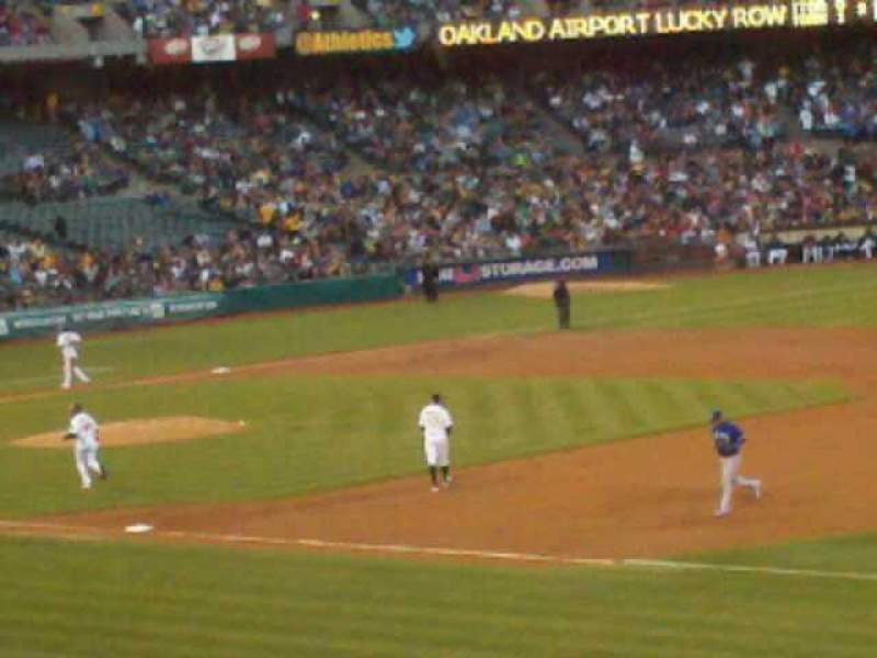 Seating view for Oakland Alameda Coliseum Section 107 Row 29 Seat 17