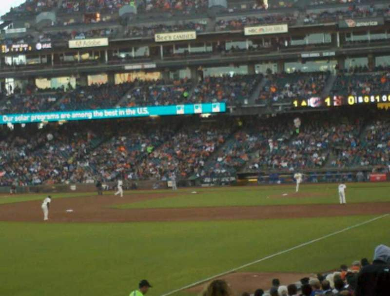Seating view for AT&T Park Section LB134 Row 22 Seat 7