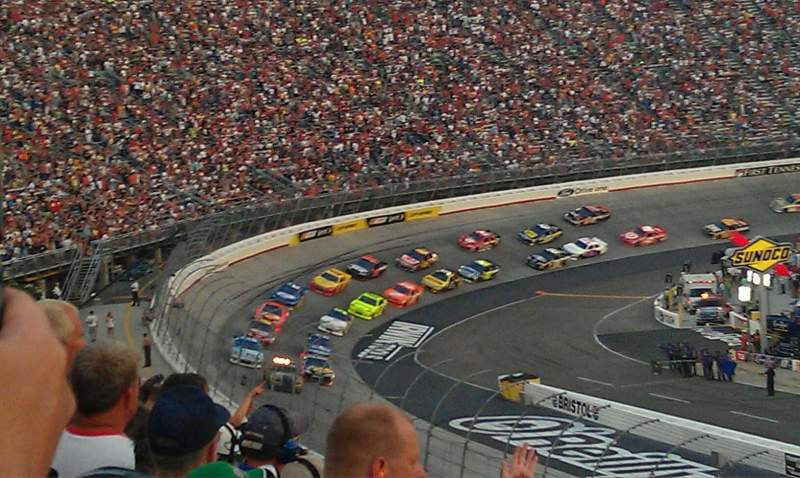 Seating view for Bristol Motor Speedway Section Allison F Row 27 Seat 15