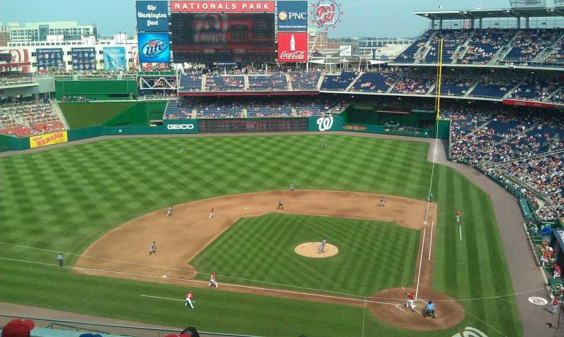 Seating view for Nationals Park Section 310 Row FI Seat 11