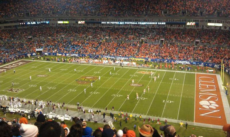 Seating view for Bank of America Stadium Section 538 Row 14 Seat 20