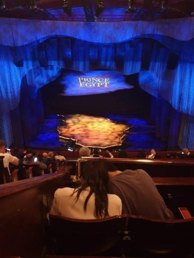 Seating view for Dominion Theatre Section Circle Row K Seat 21