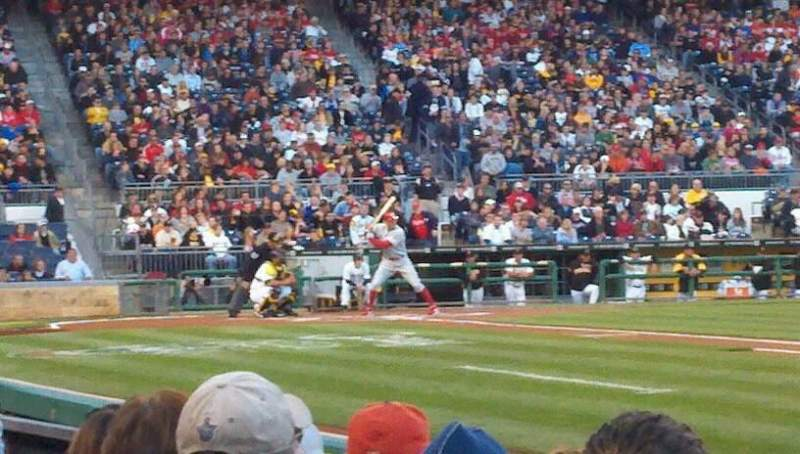 Seating view for PNC Park Section 8 Row B Seat 3