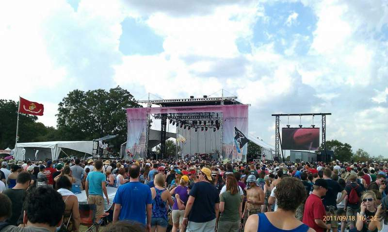Seating view for Austin City Limits Section lawn