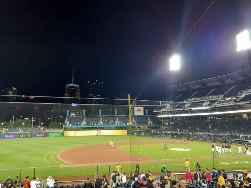 Seating view for PNC Park Section 125 Row N Seat 3