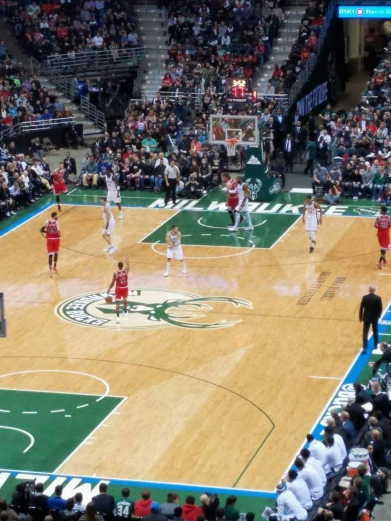Seating view for BMO Harris Bradley Center Section 409 Row d Seat 12