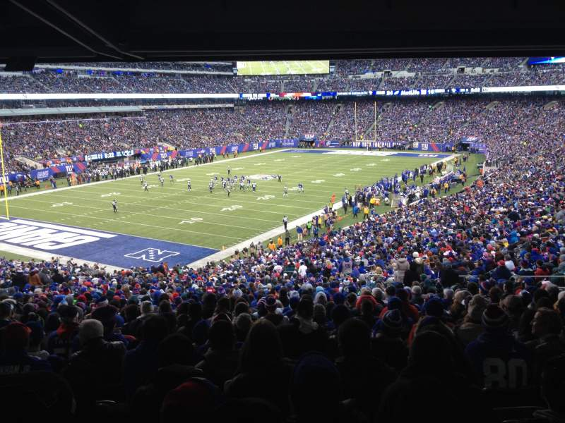 Seating view for MetLife Stadium Section 121 Row 48 Seat 7 and 8