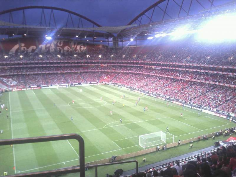 Seating view for Estádio da Luz Section 10 Row M Seat 1