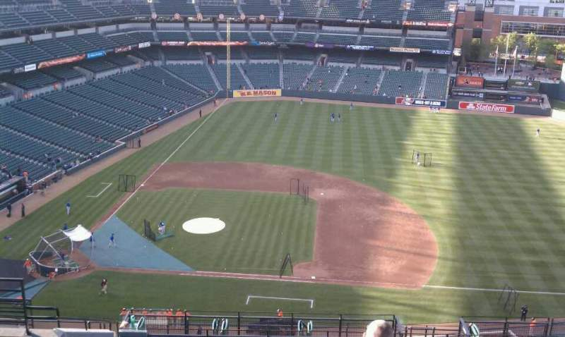 Seating view for Oriole Park at Camden Yards Section 322 Row 20 Seat 13