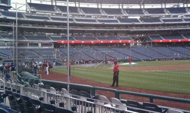 Seating view for Nationals Park Section 133 Row F Seat 9