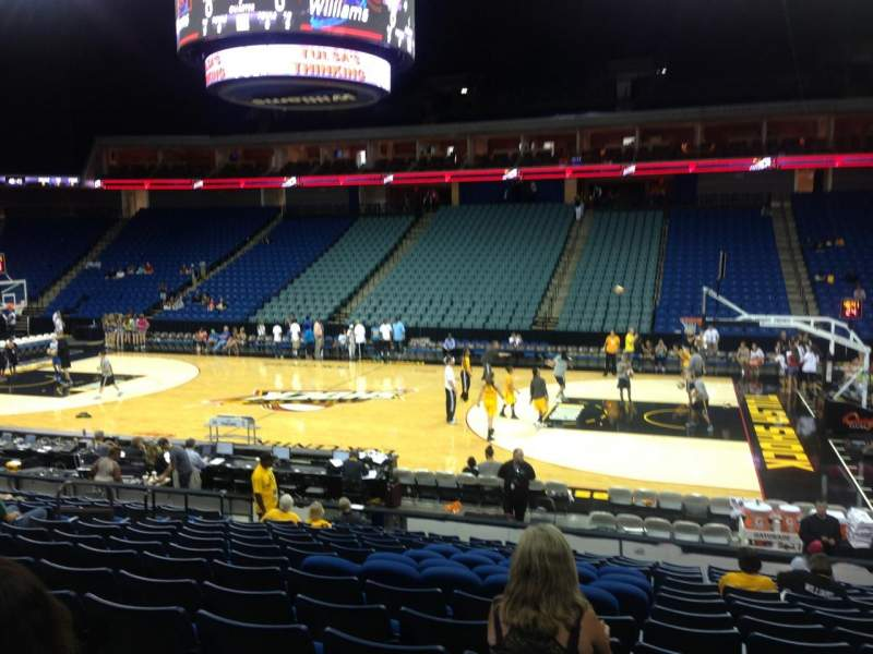 Seating view for BOK Center Section 122 Row Q Seat 9