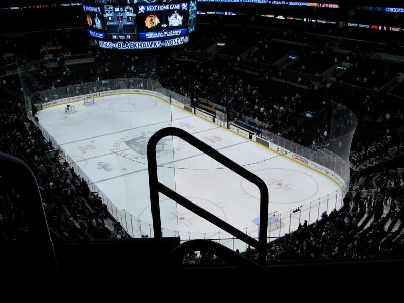 Seating view for Staples Center Section 312 Row 4 Seat 11