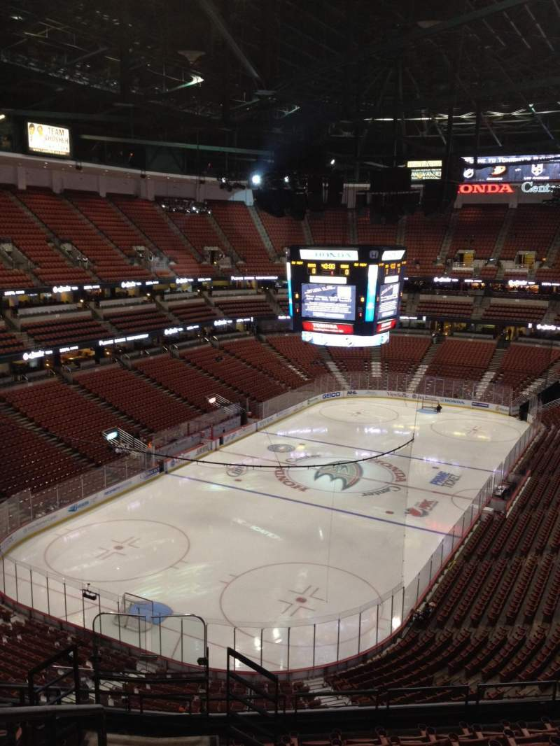 Seating view for Honda Center Section 441 Row K Seat 12