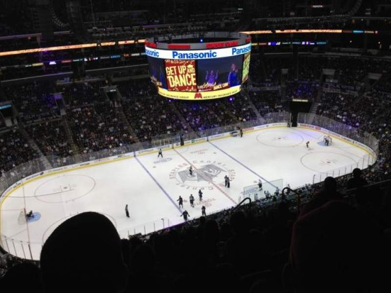 Seating view for Staples Center Section 303 Row 12 Seat 12