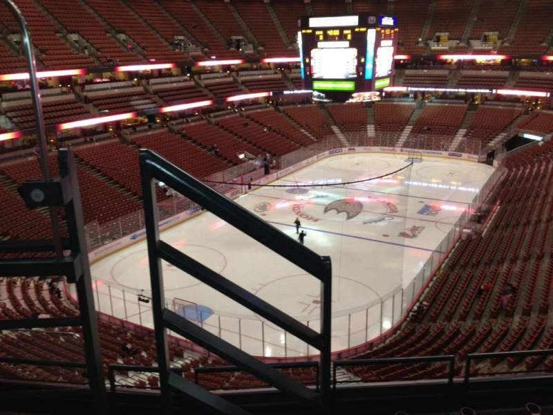 Seating view for Honda Center Section 441 Row E Seat 8