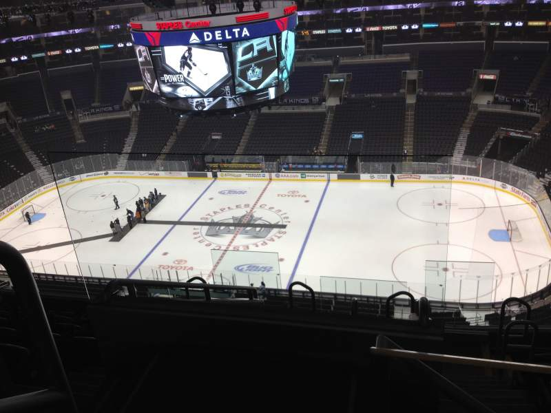 Seating view for Staples Center Section 316 Row 8 Seat 21