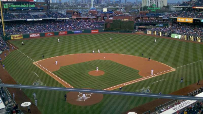 Seating view for Citizens Bank Park Section 320 Row 1 Seat 1