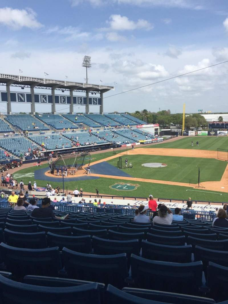 Seating view for George M. Steinbrenner Field Section 206 Row N Seat 5