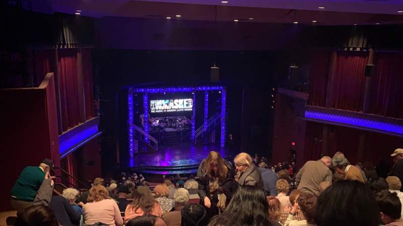 Seating view for Paper Mill Playhouse Section Mezzanine L Row JJ Seat 19
