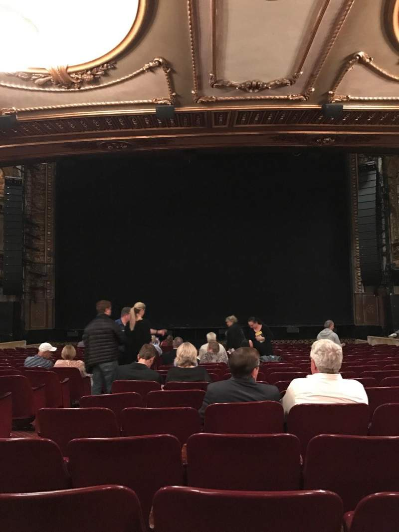 Seating view for Palace Theatre (Broadway) Section Orch Center Row T Seat 106