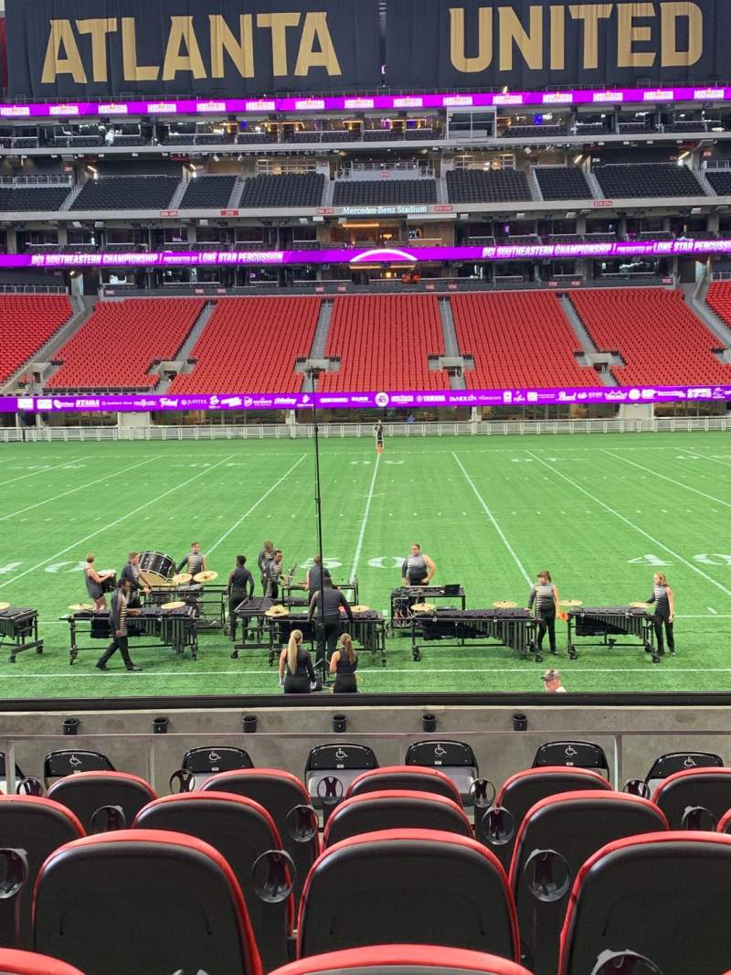Seating view for Mercedes-Benz Stadium Section C128 Row 9 Seat 8