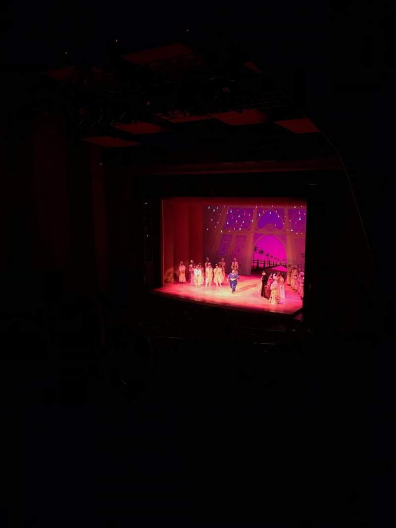 Seating view for San Diego Civic Theatre Section Balcony Row O Seat 56