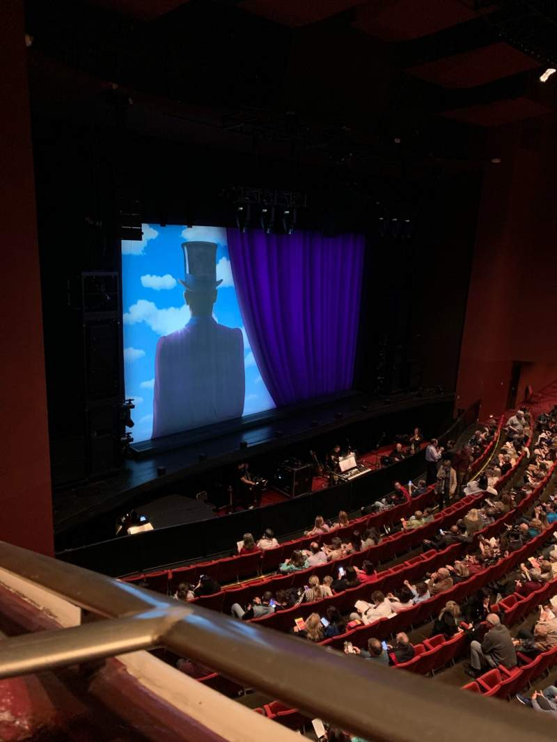 Seating view for San Diego Civic Theatre Section Upper Loge Row A Seat 1