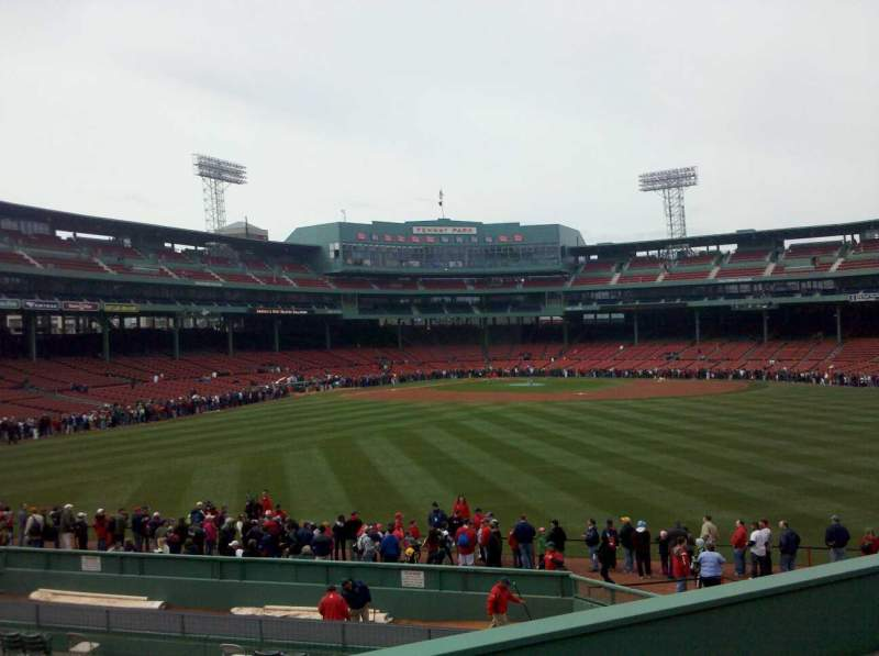 Seating view for Fenway Park Section Bleacher 37 Row 8 Seat 19