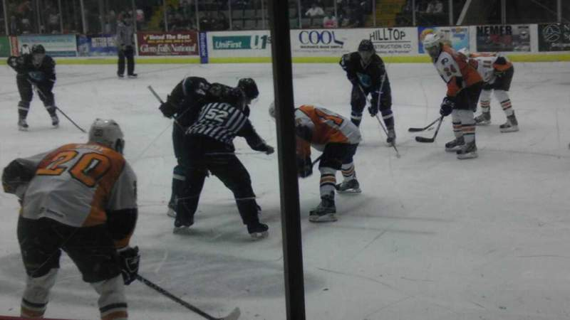 Seating view for Glens Falls Civic Center Section P Row 3 Seat 1