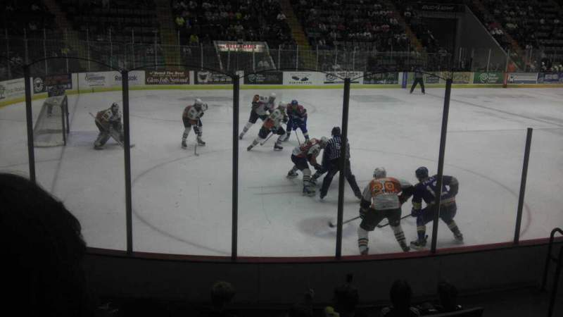 Seating view for Glens Falls Civic Center Section V Row 6 Seat 7