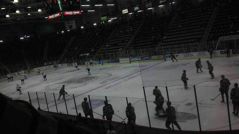 Seating view for Glens Falls Civic Center Section P Row 10 Seat 1