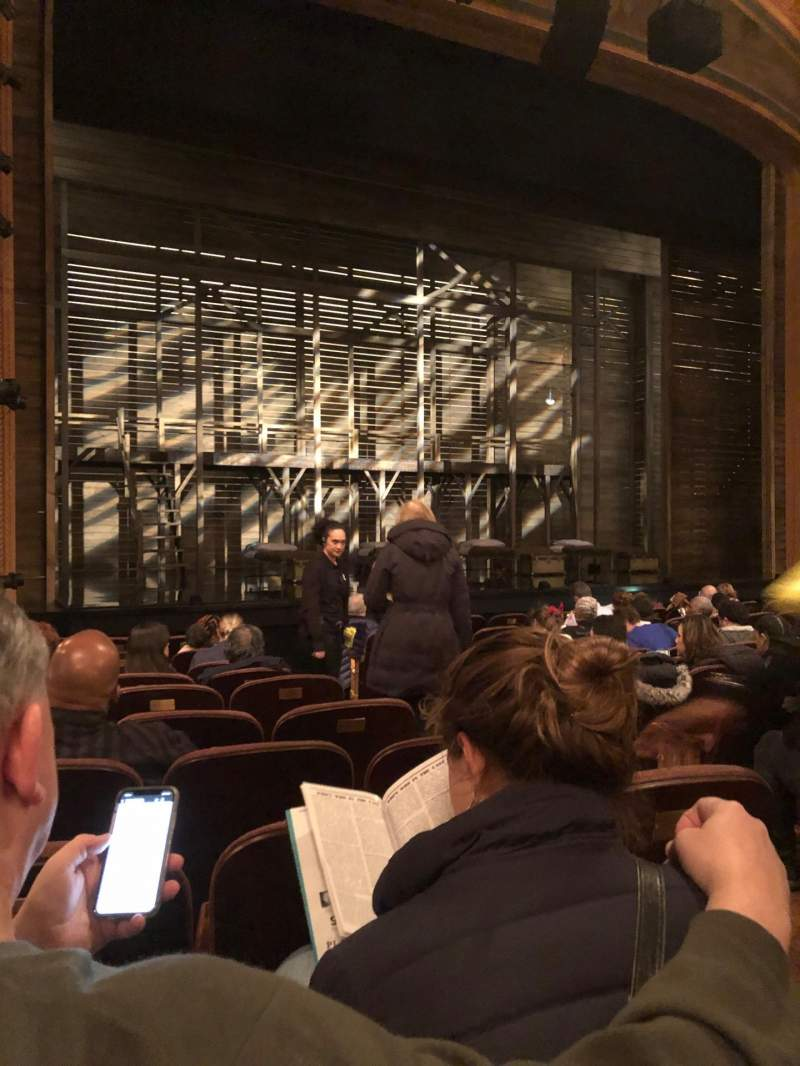 Seating view for American Airlines Theatre Section Orchestra L Row K Seat 5