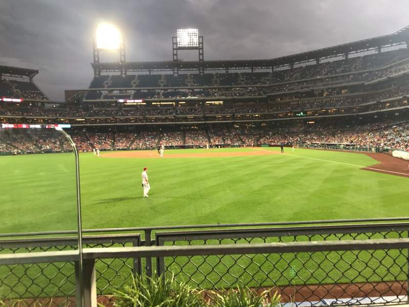 Seating view for Citizens Bank Park Section 142 Row 1 Seat 19