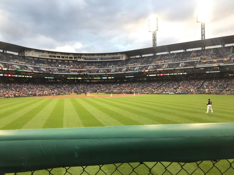 Seating view for PNC Park Section 139 Row 1 Seat 2