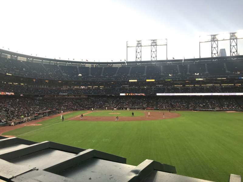 Seating view for Oracle Park Section 148 Row 1 Seat 7