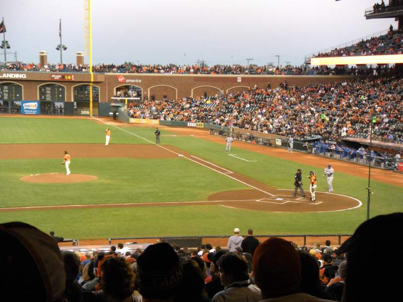 Seating view for AT&T Park Section 122 Row 39 Seat 17,18