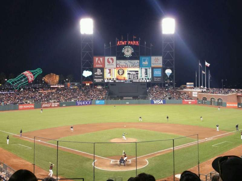 Seating view for AT&T Park Section 215 Row I Seat 11