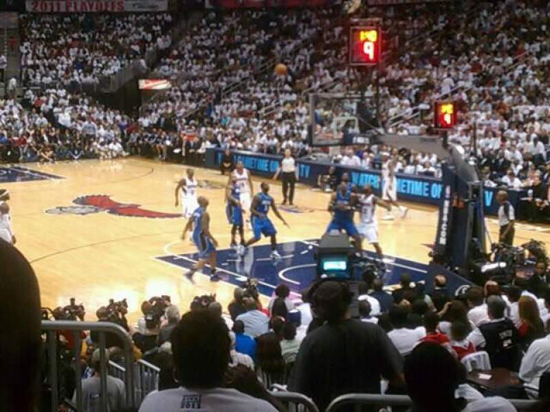 Seating view for Philips Arena Section 122 Row F Seat 9