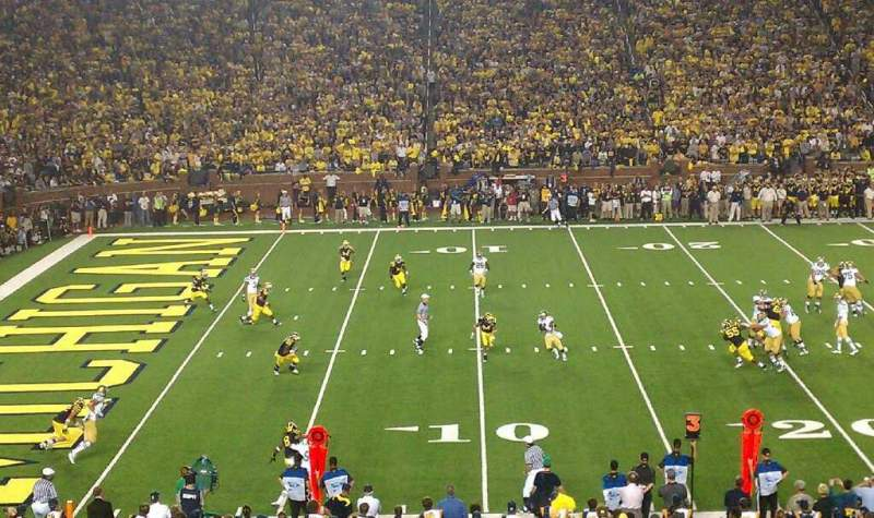 Seating view for Michigan Stadium Section 4 Row 45 Seat 15
