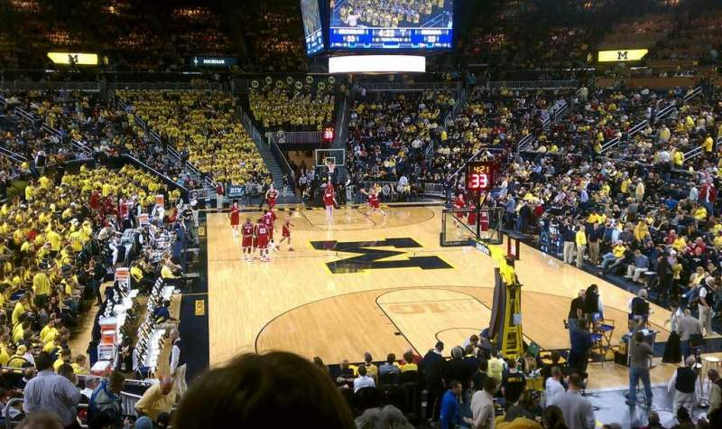 Seating view for Crisler Center Section 116 Row 18 Seat 4