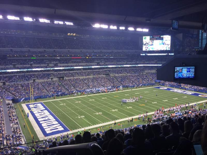 Seating view for Lucas Oil Stadium Section 419 Row 15 Seat 1-4