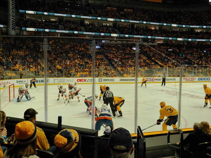 Seating view for Bridgestone Arena Section 113 Row FF Seat 1
