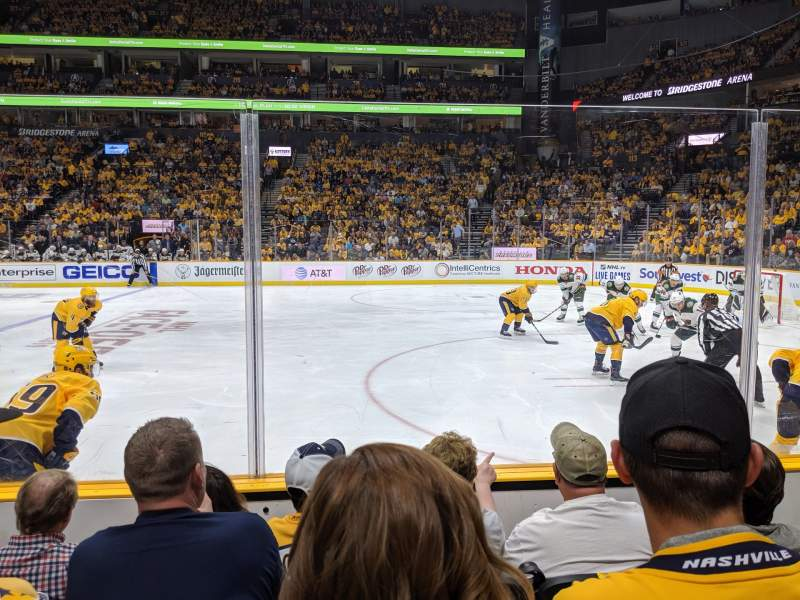 Seating view for Bridgestone Arena Section 107 Row DD Seat 12