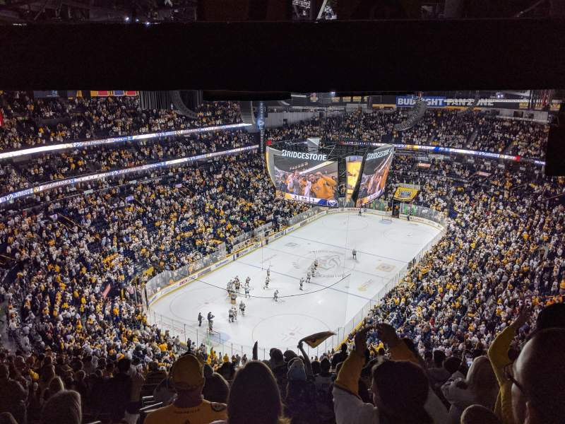 Seating view for Bridgestone Arena Section 304 Row S Seat 20