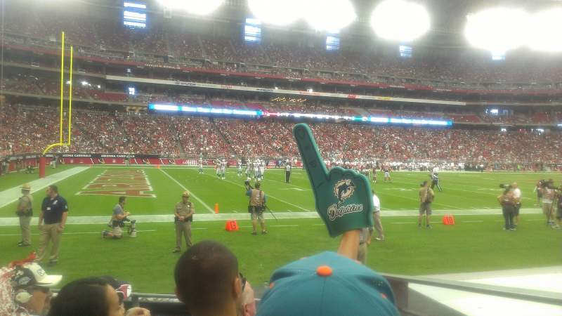 Seating view for University of Phoenix Stadium Section 113 Row 4 Seat 16