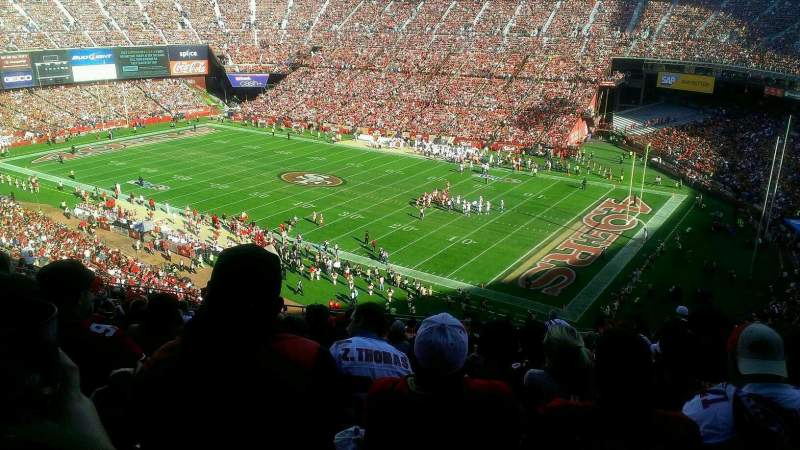 Seating view for Candlestick Park Section UR10 Row 18 Seat 5