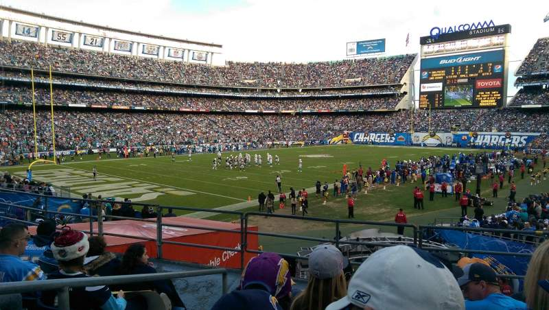 Seating view for Qualcomm Stadium Section P27 Row 5 Seat 5