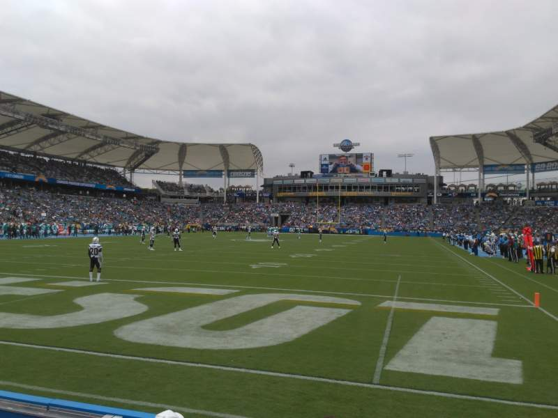 Seating view for Dignity Health Sports Park Section 120 Row B
